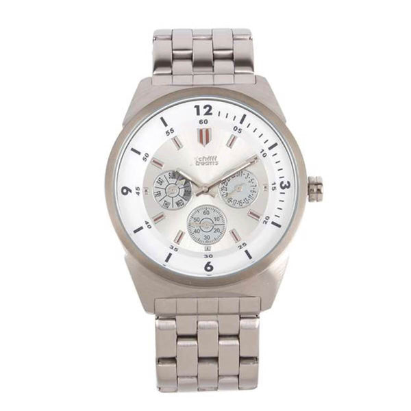 Round Watch Silver Metal
