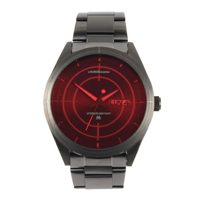 Round Watch Red Metal