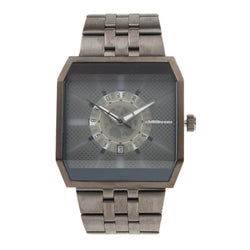 Square Watch Gray Metal