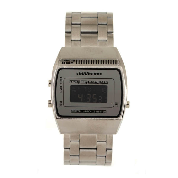 Square Watch Silver Brass