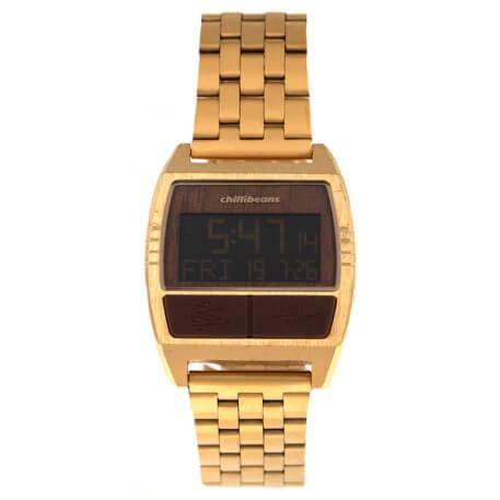 Charlie Brown Square Watch Golden Brass