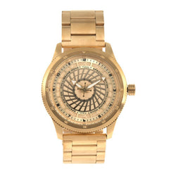 Round Watch Golden Brass