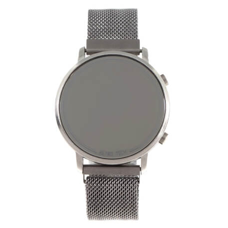Retrotech Round Watch Silver Brass
