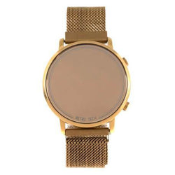 Retrotech Round Watch Golden Brass