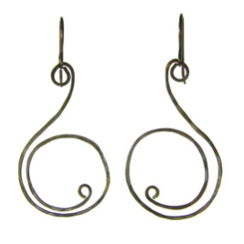 Vintage Inspired - Sculpted Brass Handmade Earrings #E313