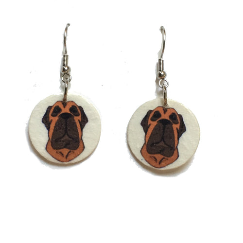 American Bulldog Earrings, Dog Earrings, Dog-Lover Gift #E745