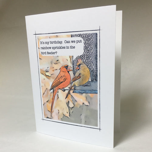 Cardinal Birthday Cards, Cardinal Card, Cardinal Greeting Card #C38