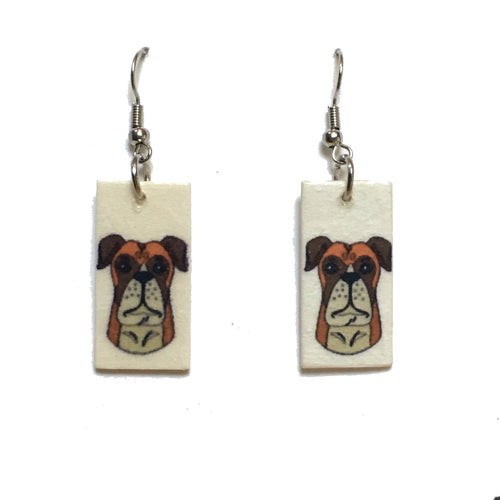 Boxer Earrings, Dog Earrings, Dog-Lover gift #E746
