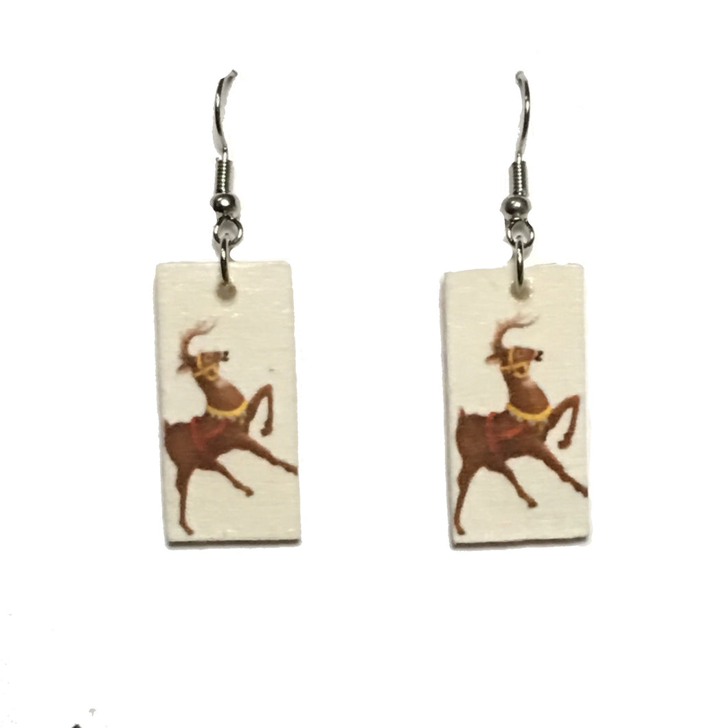 Brown Reindeer - Christmas Earrings E687