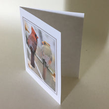 Two Cardinals in Love - Greeting Cards, 4 Pack, Cardinal Gift, Birdwatcher Gift, Thinking of You, Miss You, Bereavement Gift, Sympathy Card #C20