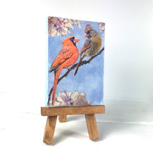 Cardinals on Branches on Small Canvas with Easel, Home Decor, Limited Quantities - HD3