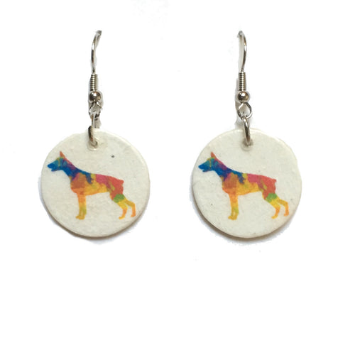 Colorful Dog Earrings, Dog Earrings, Dog-Lover Gift #E742
