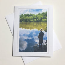River Greeting Cards, River Scape, Encouragement Card, 4 Pack, Gift of Nature, Nature Card, Thinking of You, Miss You, Father's Day, Fishing Card #C17