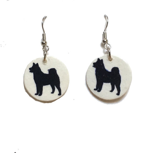 German Shepherd Earrings, Dog Earrings, Dog-Lover Gift #E748