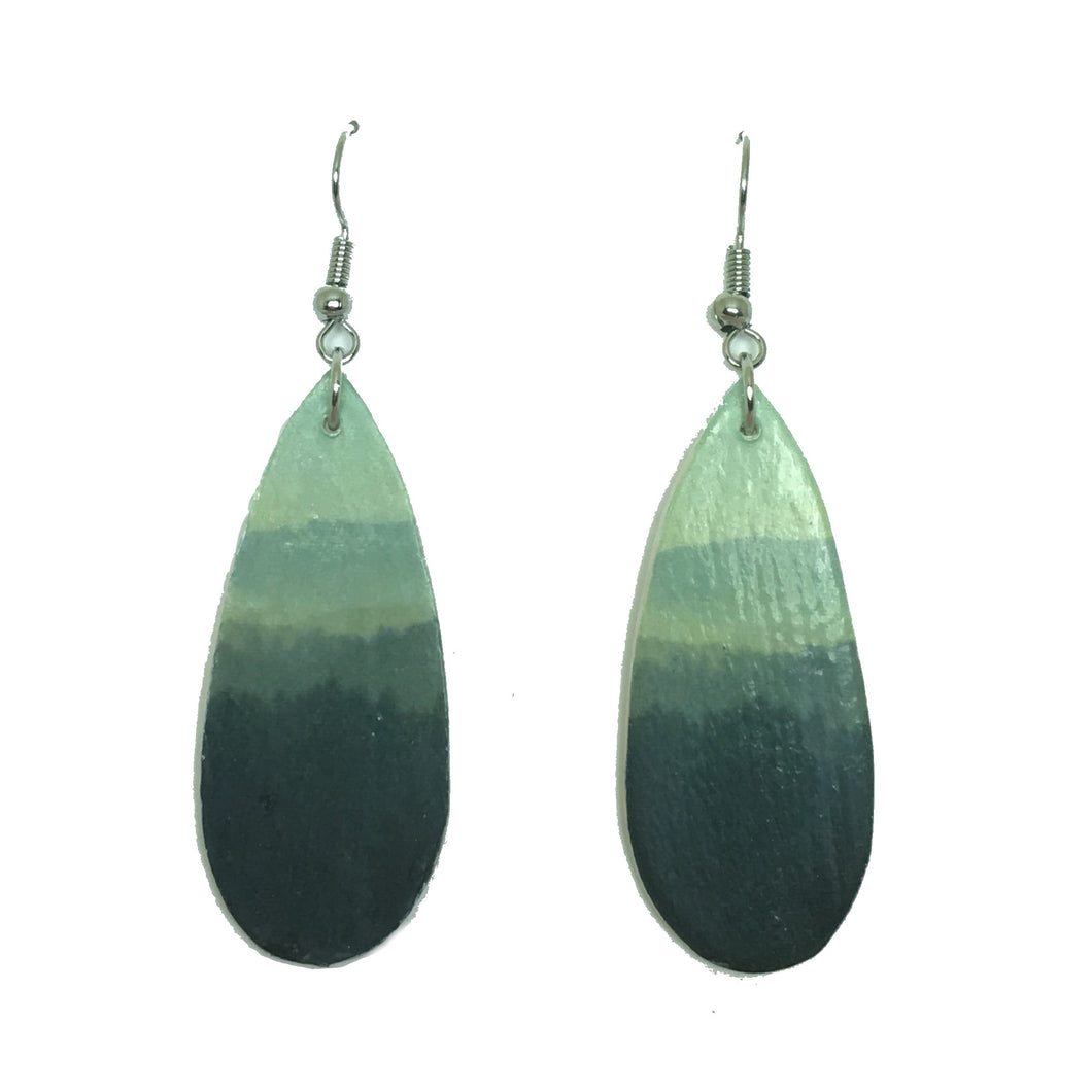 Mountain Sunrise in Gray, Teardrop Earrings E640