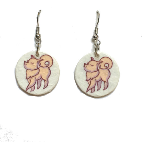 Happy Dog Earrings, Dog Earrings, Dog-Lover gift #E744