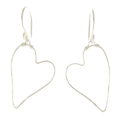 Sterling Silver, Heart Earrings #E393