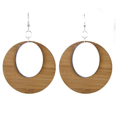 Wood Hoop Earrings #E485