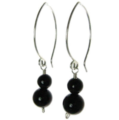 Long Dangle - Onyx Handcrafted Earrings #E301