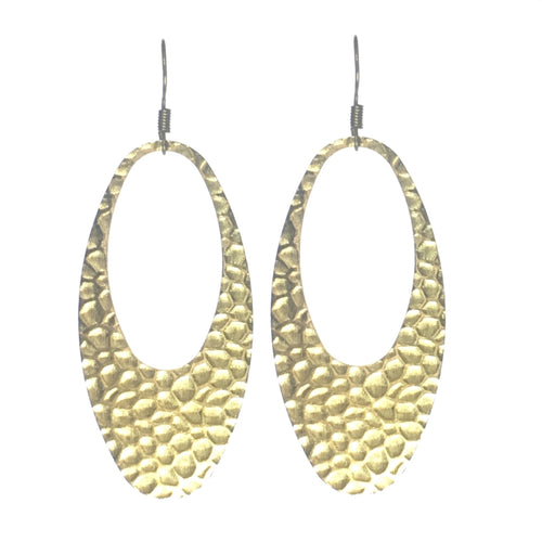 Brass Oval Earrings #E560