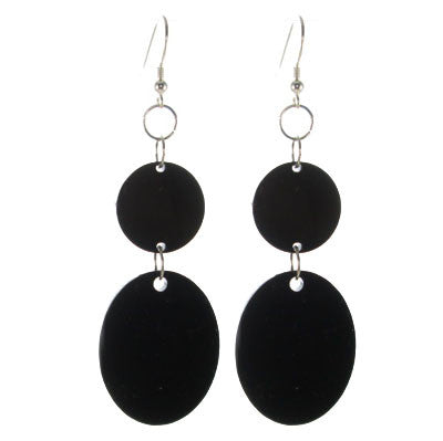 Acrylic Disk and Oval Earring #E477