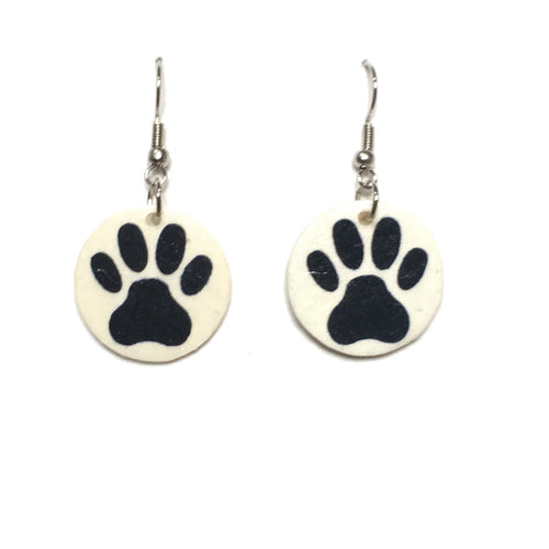 Paw Print Earrings - Pet Jewelry E704