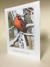 Cardinal Christmas Greeting Cards, 4 Pack, Cardinal Gift, Birdwatcher Gift, Thinking of You, Miss You, Holiday Card #C24