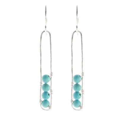 Sterling Silver Pod with Turquoise #E421