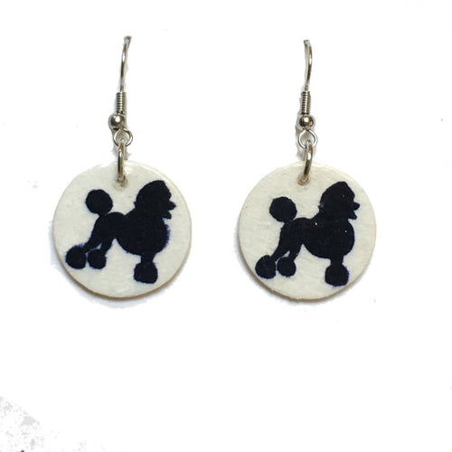 Poodle Earrings, Dog Earrings, Dog-lover gift #743