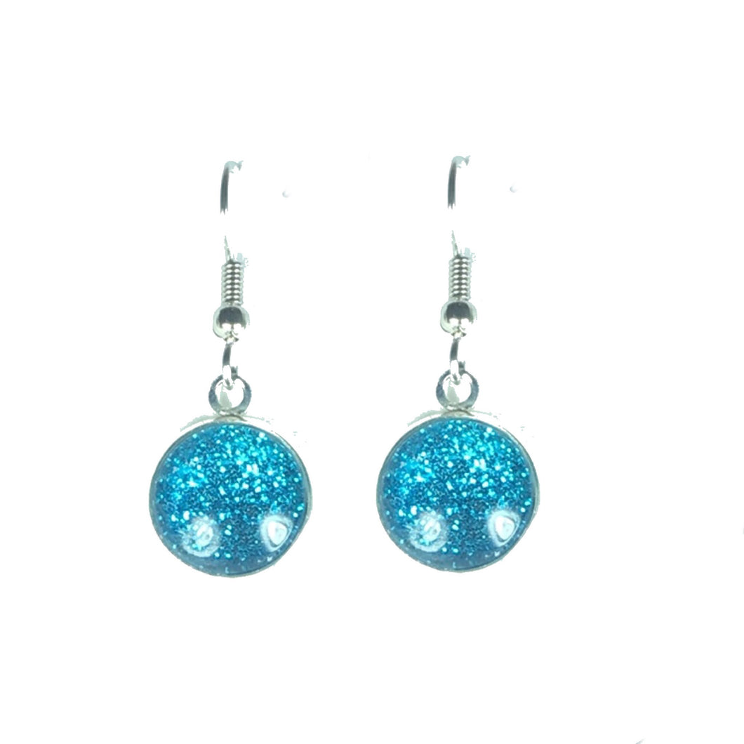 Round Glitter Dangle Earring #E617
