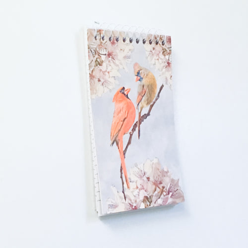 Small Notepad with Cardinals on a Branch - Limited Quantities - S1