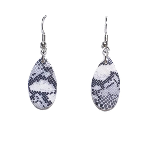 Snake Skin Animal Print, Nature - Inspired Earrings E675
