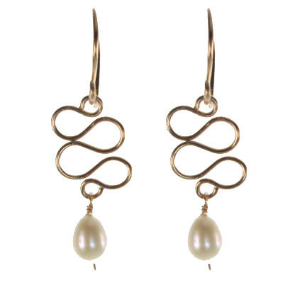 Sculpted Wire with Pearl #E459