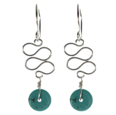 Sculpted Wire with Turquoise #E458