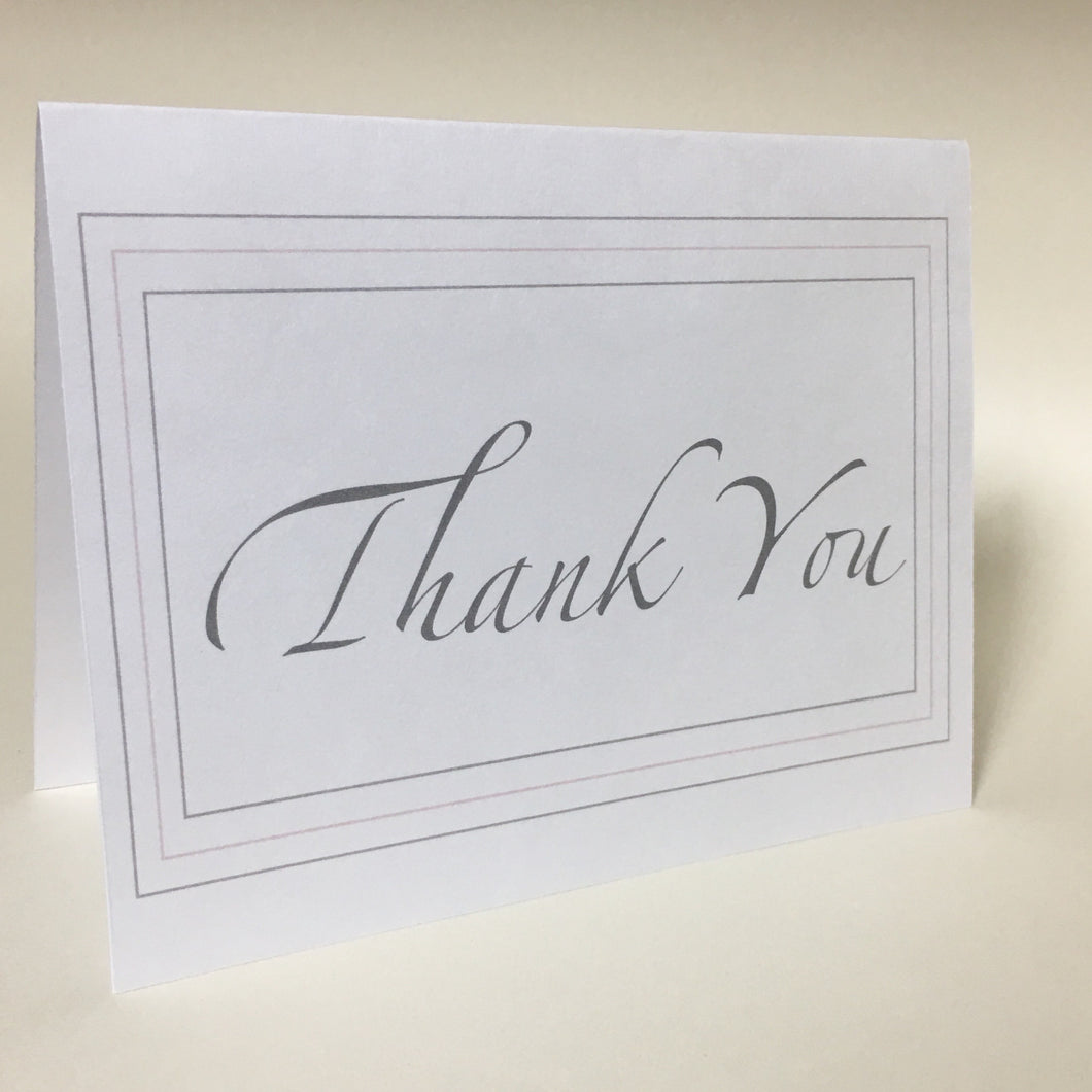 Thank You Card, Greeting Cards, 4 Pack, Gift, Thinking of You, Miss You Card, Blank Inside #C15