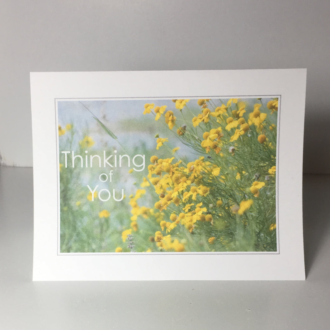 Yellow Flowers, Greeting Cards, Encouragement Card, 4 Pack, Gift of Nature, Religious Card, Thinking of You, Miss You, Bereavement Gift, Sympathy Card #C23