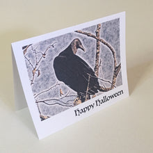 Happy Halloween,  Vulture, 4 Pack, Greeting Cards, Scary Gift, Birdwatcher Gift, Raptor Card #C7