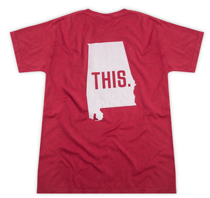 This is Alabama Crimson Pocket Tee