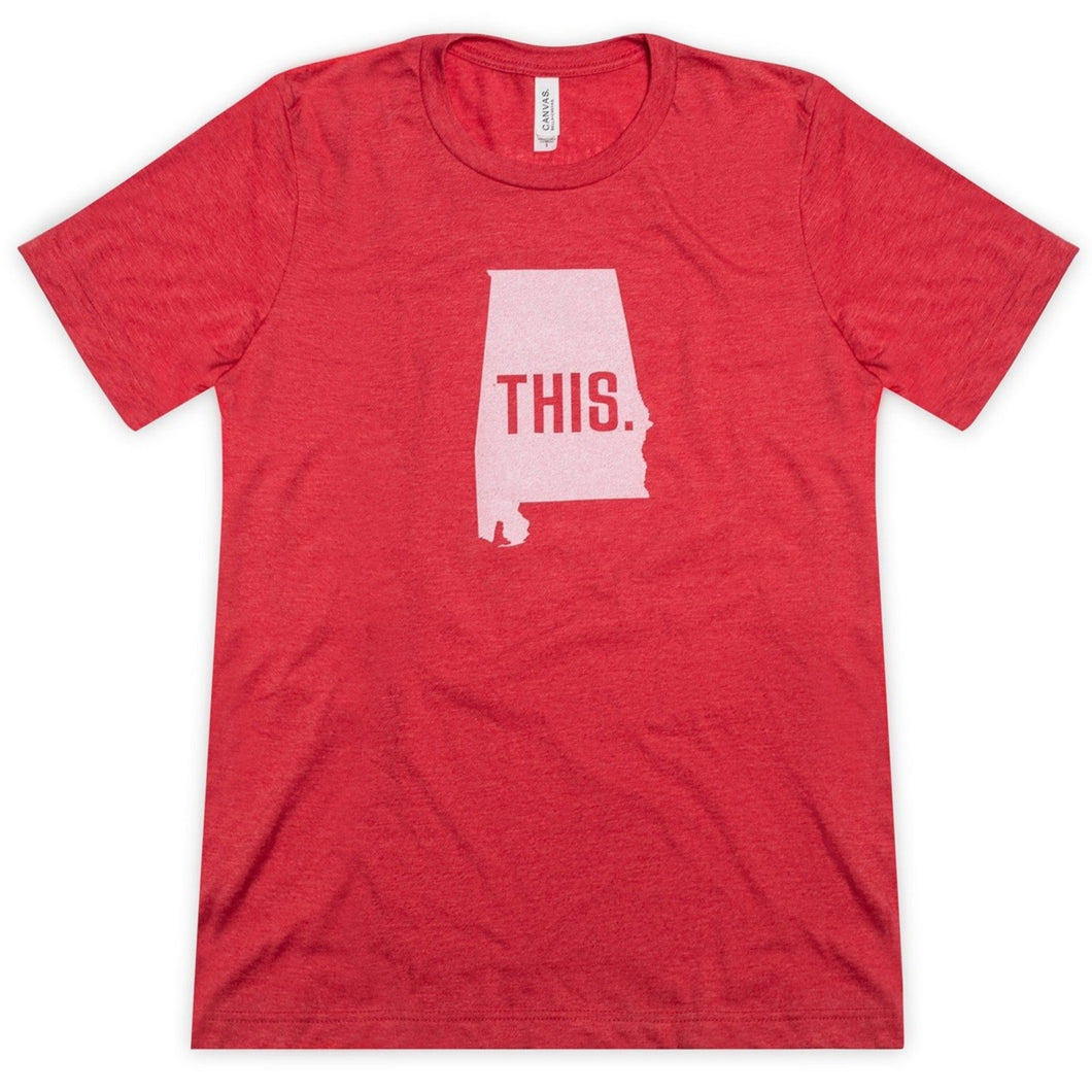 This is Alabama Unisex Short Sleeve Tee - Red Heather