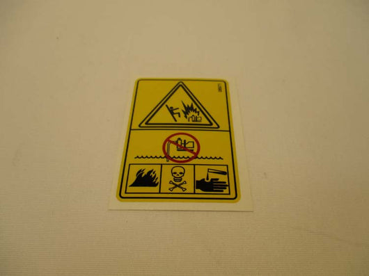 Decal, Warning - Riverside Pumps