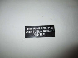 Decal, Buna-N Seals - Riverside Pumps