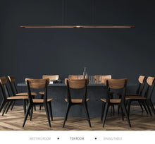 "Modern Black Walnut 220 cm - 86.5"" Wooden Bar Brass Lighting Pendant Light"