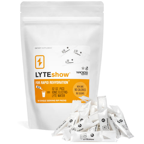 LyteShow Electrolyte Concentrate - 50 Single Serving Rip Packs