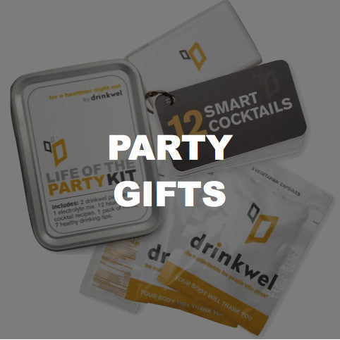 novelty hangover kits and party favors