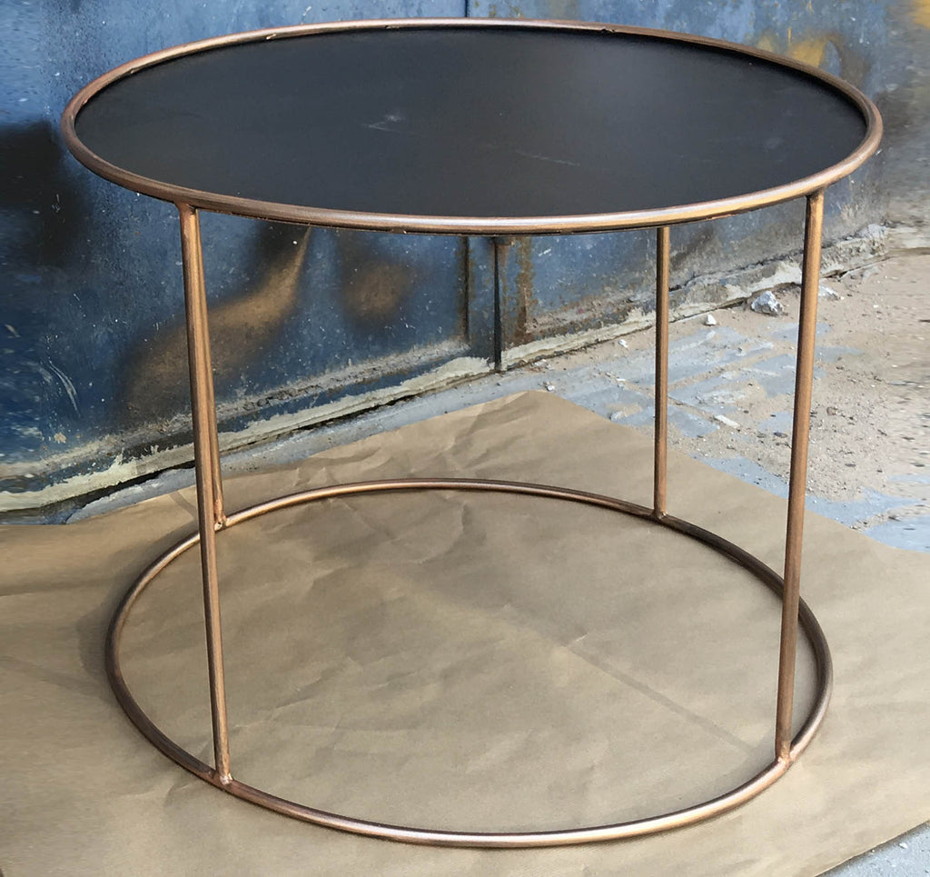 TRAVIS-  ROUND METAL SIDE TABLE