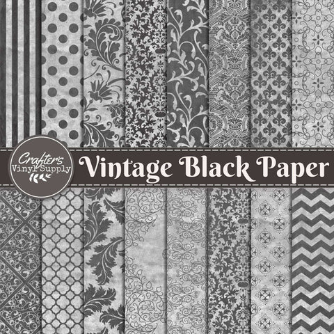 Vintage Black Paper Patterns