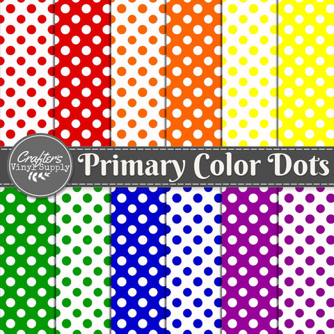 Primary Color Dots Patterns