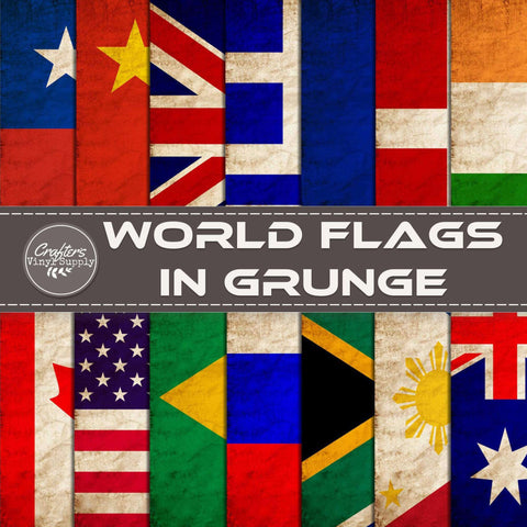 World Flags in Grunge