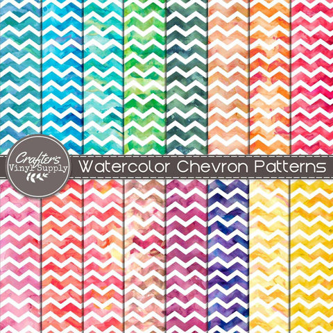 Watercolor Chevron Patterns