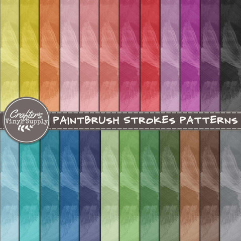 Paintbrush Strokes Patterns